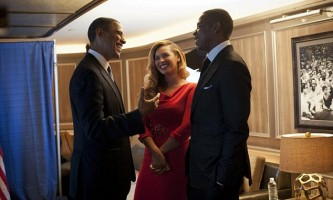 Jayz and Beyonce with President Obama