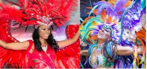 York Region Mas Camp reveals its costumes (left and above) at the recent launch. The new camp under Jerry Jerome will participate in Toronto Carnival 2016 and in York Region Carnival in August.  Saldenah Mas Camp with its multiple sections took the stage (left, above and right) for its 2016 launch. Leader Louis Saldenah typically has the largest number of participants in the Carnival Parade.