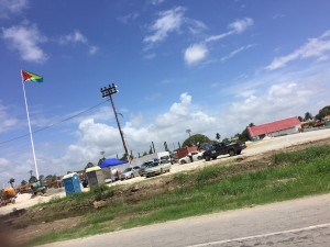 Controversial and delayed, the independence gala stadium site needs a lot of work. Jasminee Sahoye photo.