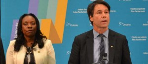 Dr. Eric Hoskins, Ontario health minister, and Scarborough Centre MPP Mitzie Hunter announce changes to the Scarborough and West Durham hospitals organizational structure. By Gerald V. Paul