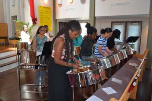 Hope Steelband perform at a gathering in Toronto of the Guyanese Diaspora. Gerald V. Paul photo.
