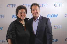 Frances-Anne  Solomon CaribbeanTales CEO and founder and John Reid FLOW CEO