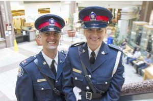 Constables Anthony Lefrancois and Lisa Prechotko