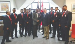 The Mayor of Toronto's 2016 Youth Cricket team meets cricket legend Brian Lara in Trinidad