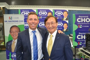 Patrick Brown left and Raymond Cho