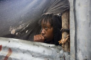 A girl watches as Matthew comes