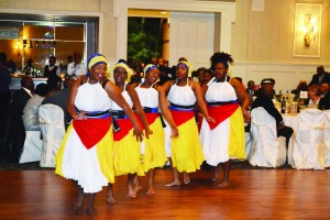 D'LYFE (Dance, Let Your Feet Explore) dance group performs at  Antigua and Barbuda 's 35th Independence anniversary celebrations in Toronto.