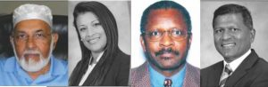 Haroon Salamat- Retired Chemical Engineer, Aneesa Oumarally - Lawyer, Leroy A. Crosse - Lawyer Selwyn R. Baboolal - Lawyer