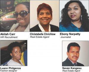 Akilah Carr, Christabelle Chrichlow, Luann Philgence, Ebony Narpatty and Savan Kangesu