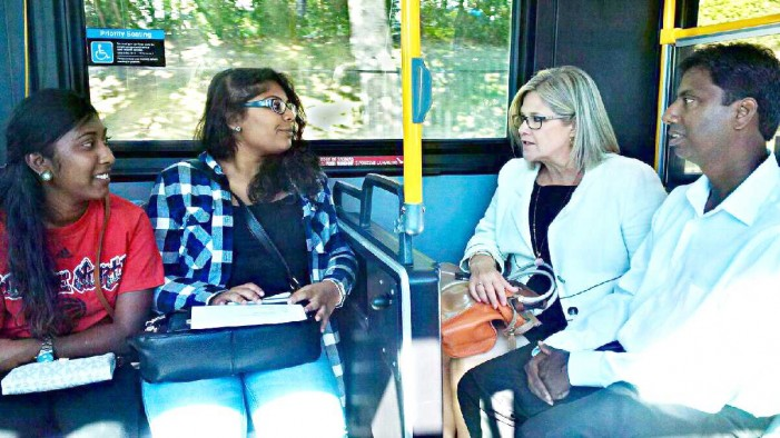 On the campaign trail by public transit