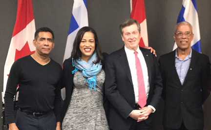 Toronto Dominican delegation meets Mayor Tory  to discuss renaming of city park