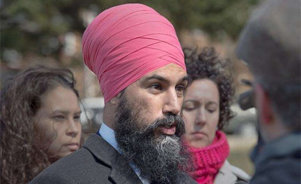 Government must move to counter hate groups  –  Jagmeet Singh