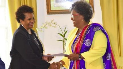 Mottley sworn in as Prime Minister of Barbados