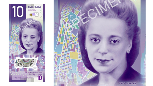 Viola Desmond $10 bill wins banknote competition