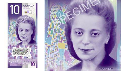 Viola Desmond $10 bill wins banknote competition