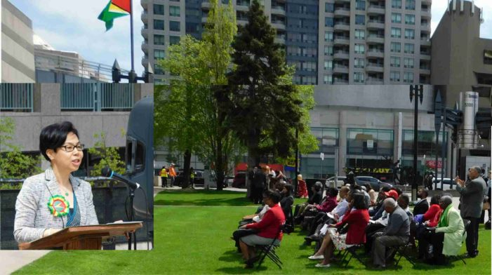 Guyanese in Toronto celebrate Independence anniversary with flag raising ceremony