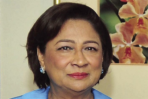 Persad Bissessar sworn in as Trinidad-Tobago's opposition leader
