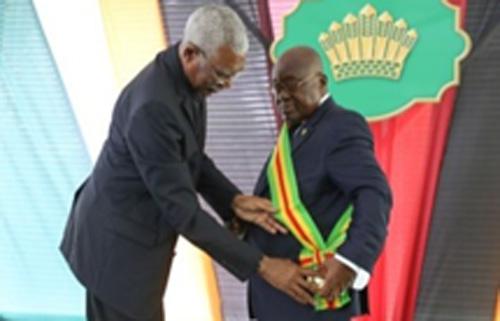 Ghana's President Given Guyana's Highest National Award