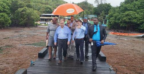 UN head sees devastating impact of Sargassum on St Lucia