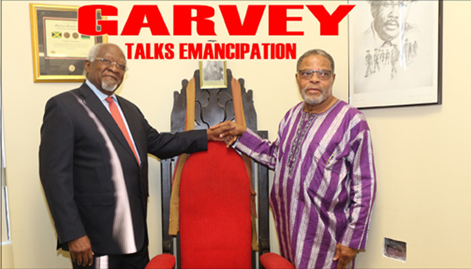 Dr. Julius Garvey speaks to the people about emancipation