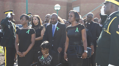 Hundreds bid last farewell to Dr. Audley James