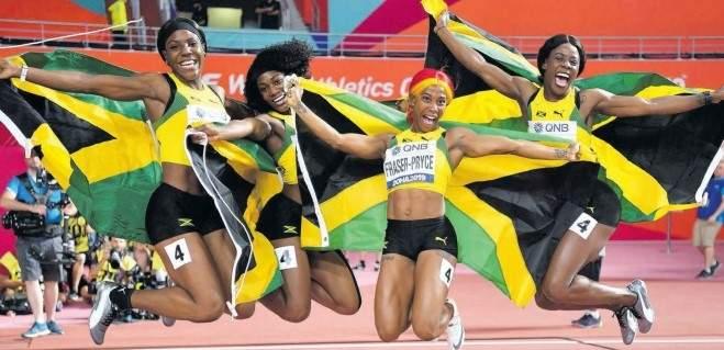 Jamaica Women relay gold
