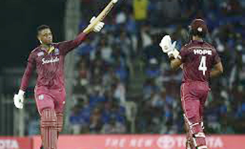 Hetmyer, Hope power West Indies to huge win over India