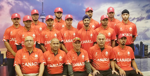 Canada's Under-19 World Cup cricket squad of to South Africa