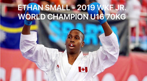 Ethan Small strikes gold in Junior World Karate