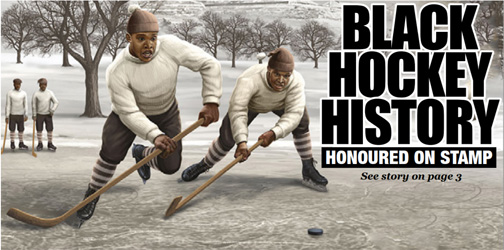 Canadian Black History Month stamp celebrates little-known hockey history