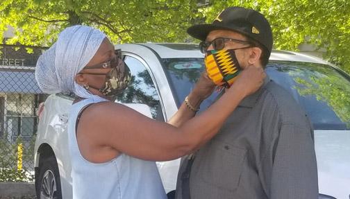 Community activist donates face masks