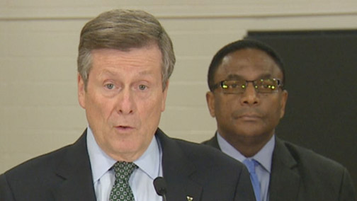 Mayor Tory promises to provide leadership  in combating racism