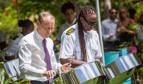 Cayman Island students are learning to play the pans online