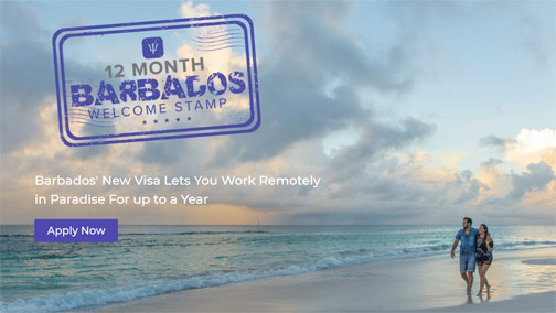 Barbados now accepting applications  for its 12-month Welcome Stamp visa