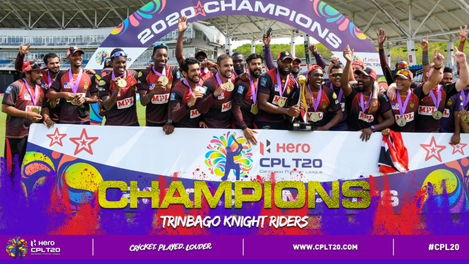 Trinbago Knight Riders trounce Zouks to claim fourth  CPL title