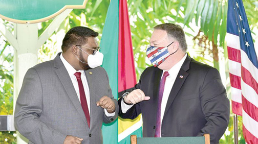 US Secretary of State and President Ali discuss democracy in Venezuela