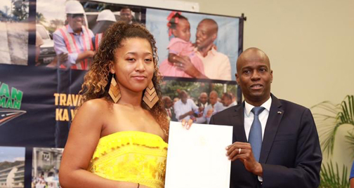 Tennis champion Naomi Osaka visits Haiti, her father's homeland