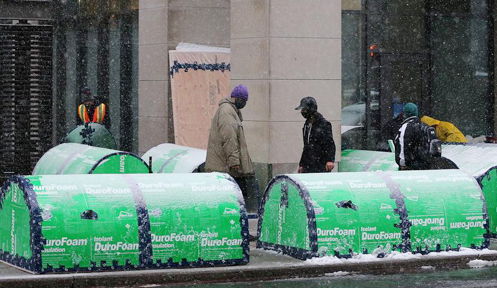 Insulated foam structures for the homeless
